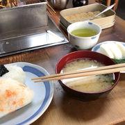 駅の近くで静岡おでん&おにぎりの朝食