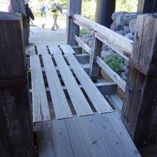 2代前の河童橋の欄干