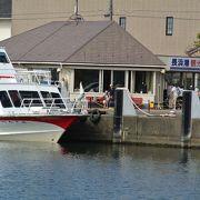 竹生島への遊覧船の起点