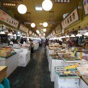 地元密着の市場 海鮮充実