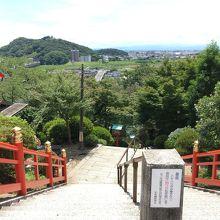 織姫神社の中腹