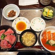 絶品!村上牛炙り丼と鮭親子丼セット!