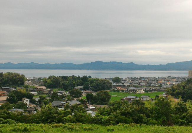 宍道湖が駐車場から良く見えます!