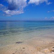 のんびり過ごせるビーチ