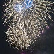 大さん橋からは大迫力の花火を見ることができました!