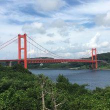 平戸大橋です。