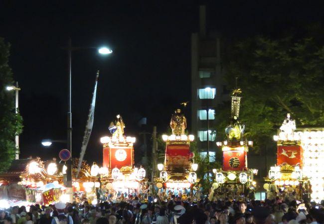 山車・屋台の夏祭り