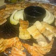 もつ鍋とサムギョプサル
