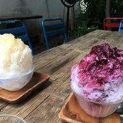かき氷が美味しい!!