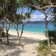 綺麗な白砂ビーチ