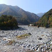 扇状地の典型的な地形「太田切川」