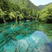 九塞溝で一番きれいな湖かも