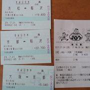 浜松~新大阪・大阪間の格安乗車券