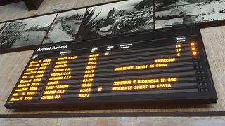 フィレンツェの中央駅です