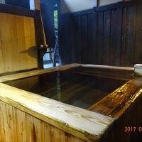個室露天風呂・・・総ヒバ造りのようです