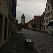 ローテンブルクのパンフレットの景色