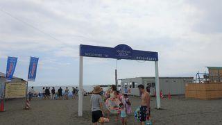江の島よりも密集している砂浜