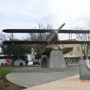 リンドバーグが飛んだ飛行機が展示されていました