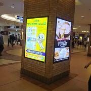 東京駅の大きな通りです