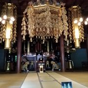 永平寺の最上部 法堂