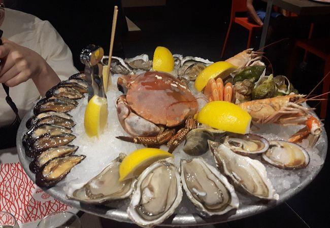 セルフサービスの海鮮レストラン