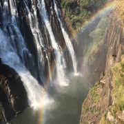 ザンビア側で虹を見るなら午後☆