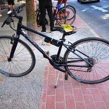 借りた自転車はGIANT