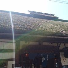 見事な萱葺き屋根