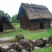 竪穴住居がある歴史公園