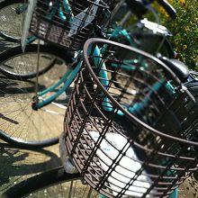 自転車の貸し出しもしていました。