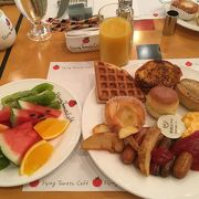 朝食で利用