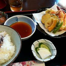 天ぷら定食¥1100