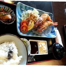 大エビフライ定食¥1200