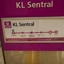 路線図、途中駅は少ないです