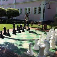 レストラン近くにチェス