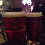 パブでエールビール