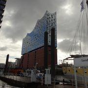 倉庫街などにも近いハンブルク港