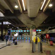 ブルターニュ方面に向かう大きな駅