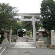 芦屋の北に鎮座する神社