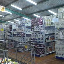 家庭用の電気製品のコーナーです。各種の製品があります。