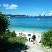 阿嘉島でいちばん有名なビーチ