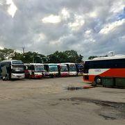 ヤンゴンから地方都市へ行く高速バスの拠点