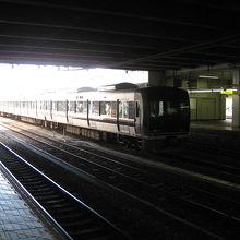 京都駅JR京都線ホーム