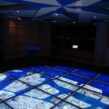 床張りの航空写真で各地点を解説してくれるコーナーです。