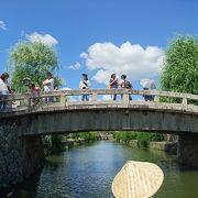 江戸時代から残る一枚石の橋