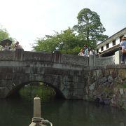 人通りの絶えない橋