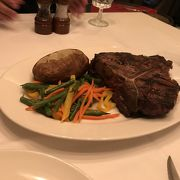 美味しいステーキで大満足です。