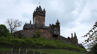 ぶどう畑に囲まれたモーゼル川を見下ろすお城