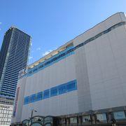 広島駅南口の地下街から簡単にアクセスできます。