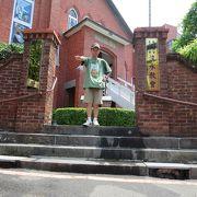 淡水の街にある教会